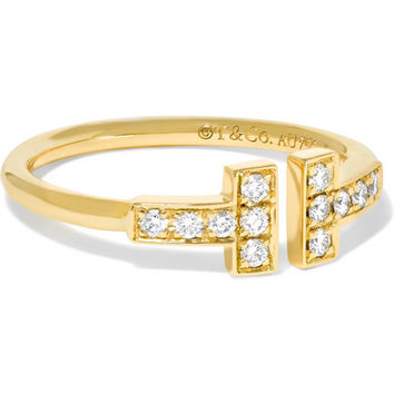 Tiffany & Co. - T Wire 18-karat gold diamond ring