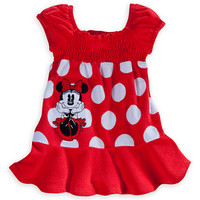 Minnie Mouse Red Cover-Up Dress for Baby