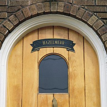 Decorative Over-Door or Wall Ribbon Name Plaque