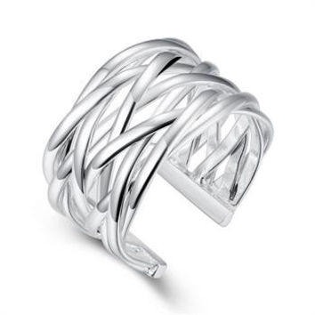 silver plated ring jewelryBraided ring 22 MP