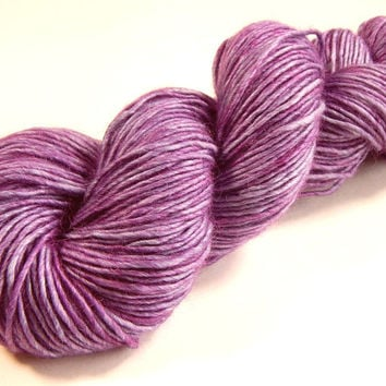Hand Dyed Yarn - DK Weight Baby Alpaca / Merino Wool / Silk Yarn - Potluck Lilac - Limited Edition - Knitting Yarn, Wool Silk Alpaca Purple