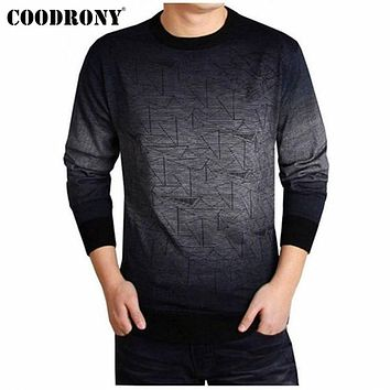 Cashmere Sweater Men Brand Clothing Mens Sweaters Print Casual Shirt Autumn Wool Pullover Men O-Neck