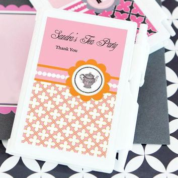 Tea Party Personalized Notebook Favors