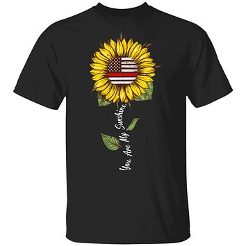You Are My Sunshine Sunflower Female Firefighter Gifts