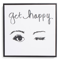 16x16 Get Happy Canvas Wall Art - Living Room - T.J.Maxx