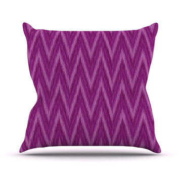"Amanda Lane ""Plum Purple Chevron"" Lavender Fuschia Throw Pillow"