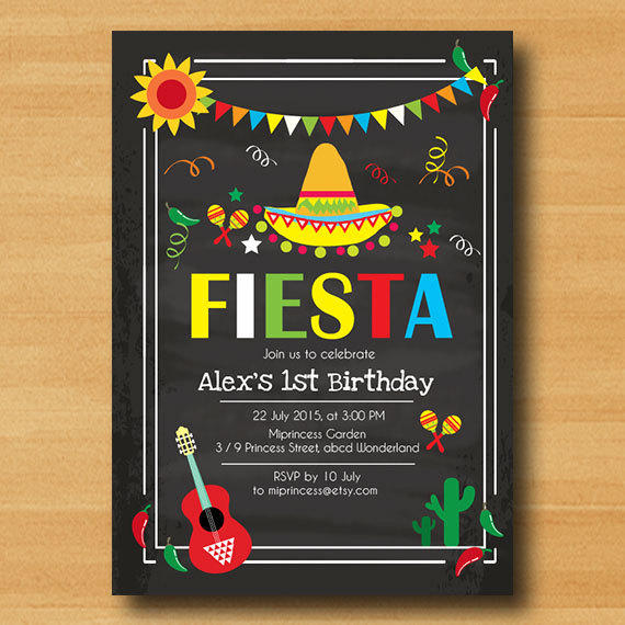 Mexican fiesta birthday invitation from miprincess on etsy filmwisefo