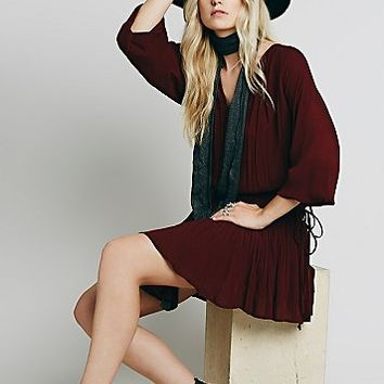 Free People Womens Light My Fire Mini Dress