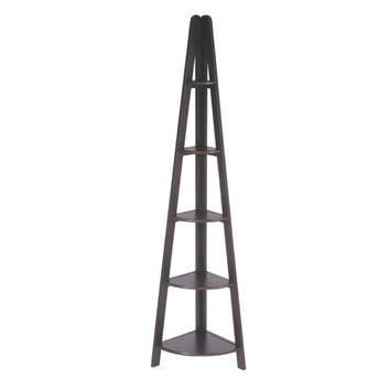 Office Star Products ES22 Espresso Corner Ladder Bookcase