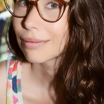 Vintage Large Retro Brown Cateye Style 1980s Eyeglasses 52/18 Made in Italy