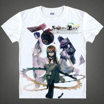 Japanese Steins;Gate anime  t-shirt anime Kurisu Makise cotton shirt Cosplay christmas halloween Costumes anime clothing