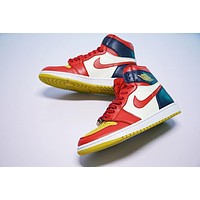 Air Jordan 1 OG Retro 1 Basketball Shoes¡°College RED YELLOW BLUE WHITE¡±555088-600
