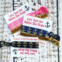 Bachelorette Party Favor Hair Ties - Lets Tank Her