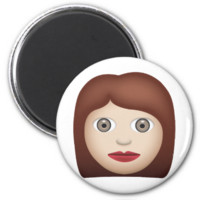 Woman Emoji Refrigerator Magnets