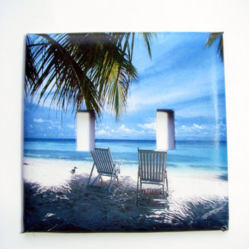 Double Light Switch Cover - Light Switch Plate Beach Chairs