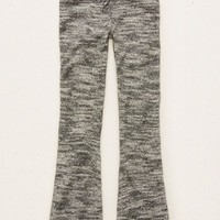 Aerie Women's Sweater Flare Pant (True Black)