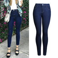 Slim Skinny Pants Autumn Pants Stretch Jeans [11474124111]