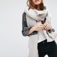 ASOS Oversized Long Woven Scarf In Two Tone at asos.com