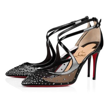Christian Louboutin Cl Twistissima Strass Version Hematite Strass 18s Special Occasion 1180531bkd1 -