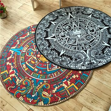 Quality acrylic Captain Round rugs Living room doormat cartoon Carpets