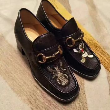 Gucci Women Trending Fashion Leather Casual Sneakers Sports Shoes Black