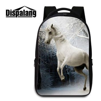 University College Backpack Dispalang Horse  for Teenager Boys Animal Laptop   bags side bags duffle bag for women students bookbagsAT_63_4