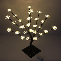 Warm White 47 cm Height Holiday Lotus Flower tree light  32 LED Lotus Tree Light standing  tree light wedding decoration