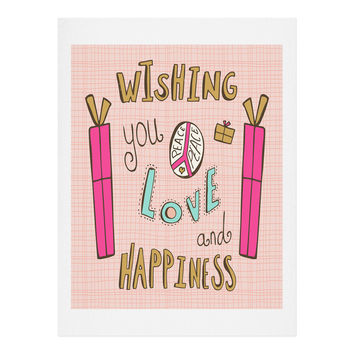 Heather Dutton Peace Love And Happiness Art Print