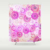 Mandala Flowers in a Colorful Pattern Shower Curtain by Octavia Soldani