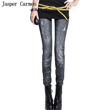 ONETOW Free shipping Women Denim Jeans Sexy Skinny Leggings Jeggings Stretch fashion Pants Trousers 4.5hfx