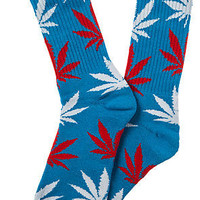 HUF Plantlife Blue & Red Crew Socks