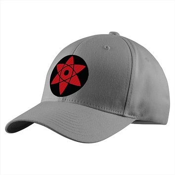 Naruto Sasuke Eye Symbol Structured Twill Cap - PF00309TC