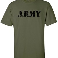 Joe's USA(tm) - Military Green Vintage Army Logo T-Shirts in Sizes M