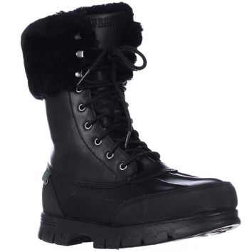 Lauren Ralph Lauren Quinta Shearling Lined Winter Boots, Black/Black, 8.5 US / 39.5 EU