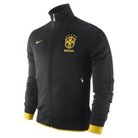 Nike Brasil CBF Authentic N98 Men's Soccer Track Jacket - Black
