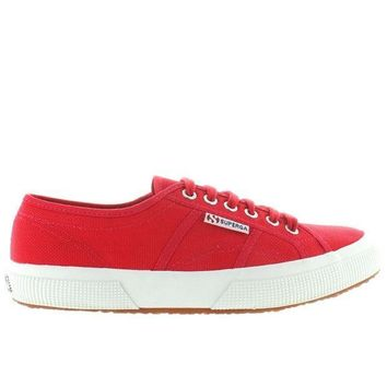 Superga 2750 Cotu Classic   Red Canvas Lace Up Sneaker