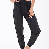 FOREVER 21 Relaxed Gym Pants Black
