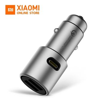 Original Xiaomi USB Car Charger Quick Charge Dual USB Qualcomm Quick Charge 3.0 Conversion Rate For Xiaomi A2 Lite Mi 8 Note 5