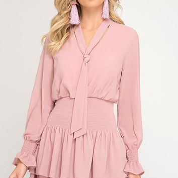Cheers to You Ruffle Dress - Pink