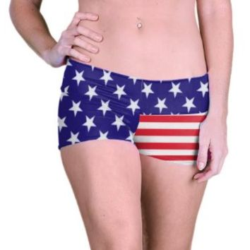 Outta Bounds Yoga Shorts Booty Shorts American Flag
