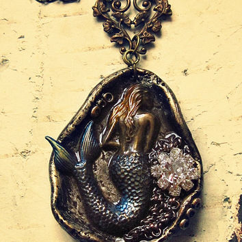 Mermaid Necklace, Unique Gifts For Women, Bohemian Statement Necklace, Mermaid Jewelry, Mermaid Jewellery, Mermaid Accessories, Mermaid Gift