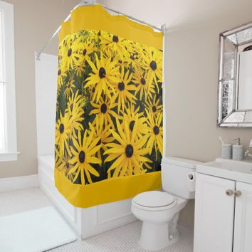 Black Eyed Susans Floral Photo Shower Curtain