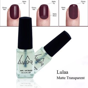LULAA 1Pcs Matte Nail Polish OilMagic Super Transparent Nails Art Gel Frosted Surface Nail Polish 6ML For Women Nail Makeup