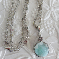 Frozen Colored Druzy Necklace
