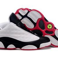 Cheap Nike Air Jordan 13 Low Men Shoes White Black Red