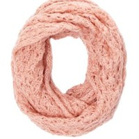 Open Knit Infinity Scarf by Charlotte Russe - Pink