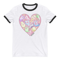 Spooky Ooky Heart - Ringer Tee from GHOULBABE