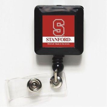 """Licensed Stanford Cardinal 1"""" x 1"""" Retractable Badge Holder Key Chain Stanford Wincraft KO_19_1"""