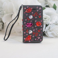 Love Accessories - Love Gifts - Phone Wallet - Iphone 4 Case - Iphone Cover - Cell Phone Case - Wallet Wristlet - Birthday Gifts