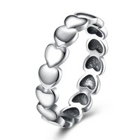 Sterling Silver Pandora Inspired Eternity Hearts Ring